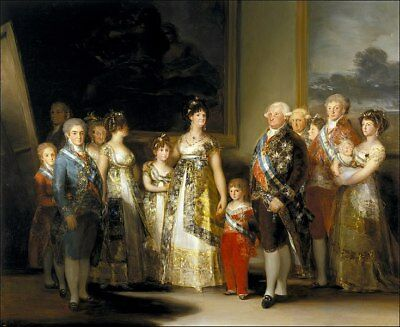 Francisco de Goya Charles IV of Spain and his family Giclee Canvas Print