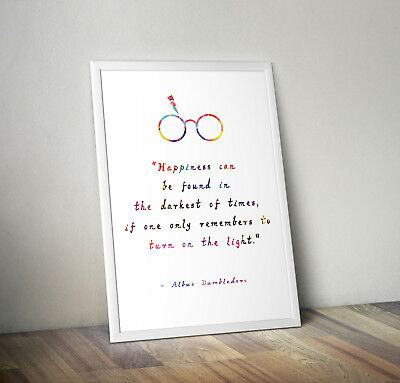 Harry potter print, poster, albus dumbledore, quote, wall art, gift, Hogwarts