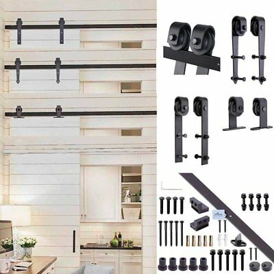 2m Sliding Barn Door Hardware Set Interior Closet Home No Joint Track Kit home #