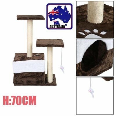 70Cm Cat Tree Kitten Scratching Post Scratcher Pole Toys Pet Gym House Bed Bg