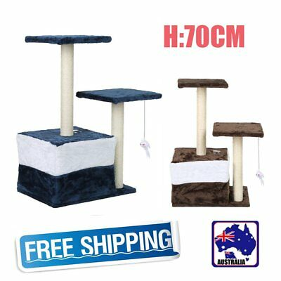 70cm Cat Scratching Post Tree Scratcher Pole Furniture Gym House Toy Small BG