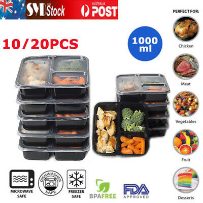 10/20X Freezer Microwavable Meal Prep Containers Food Storage Boxe Keep Fresh YE