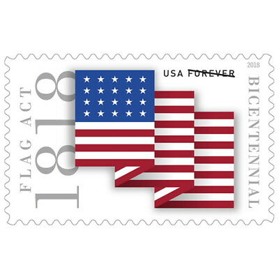 USPS New Flag Act of 1818 Pane of 20