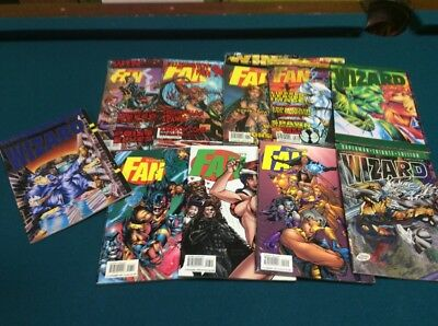 Overstreet's Fan #10, 11, 13, 18 NEW, #7, 17, 19 And Three Wizard Guides