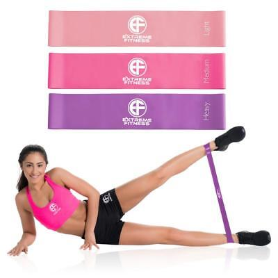 Resistance Bands Mini Loops Set Exercise Fitness Yoga Glute Rehab Leg Womens