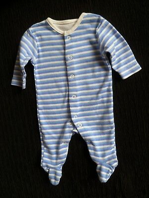 Baby clothes BOY newborn 0-1m Disney soft, blues/white stripe babygrow SEE SHOP!