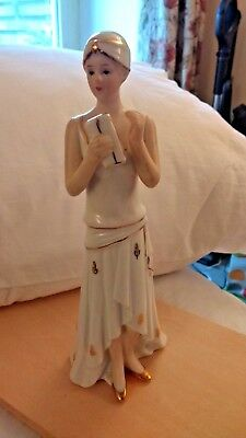Ceramic Art Deco Style Lady A Collectible Figure from the Flapper period