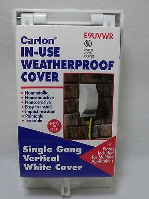 Carlon E9UVC Single Gang In-Use Weatherproof Vertical Cover White