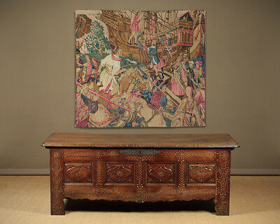 Antique 18th.c. French Inlaid Dower Chest Or Coffer c.1790.