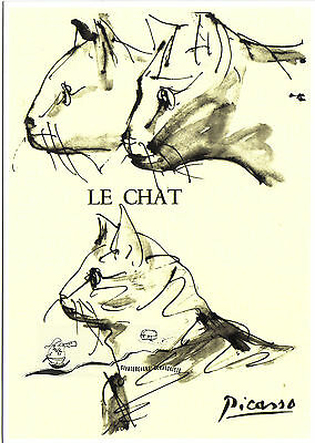 Kunstpostkarte - Pablo Picasso:  Katzen (3)  /  The Cat /  Le Chat