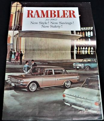 1962 Amc Rambler Automobile Car Advertisings Sales Brochure Guide Vintage