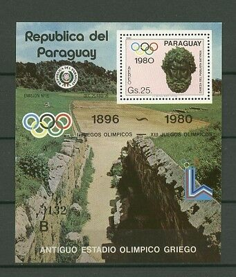 Olympiade 1980, Olympic Games - Paraguay - 1 Bl. ** MNH
