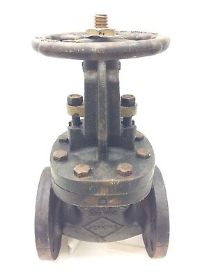 "Jenkins 2-1/2"" Gate Valve Brass Stem & Gate 250S-500 WOG Fig 204 Cast Iron"