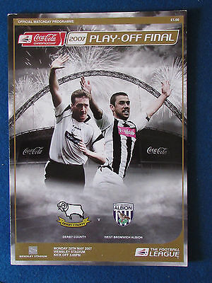 Derby County v West Bromwich Albion-28/5/07-Championship PlayOff Final Programme