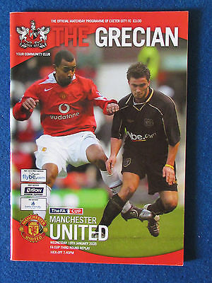 Exeter City v Manchester United - 19/1/05 - FA Cup 3rd Rd Replay Programme