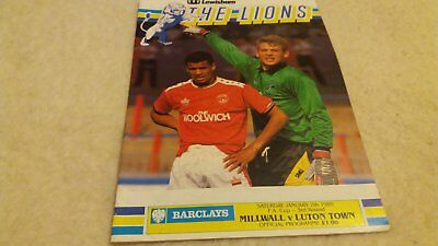 Millwall v Luton Town 1988/89 FA Cup