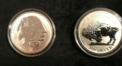 1 oz BUFFALO PROOF SILVER ROUND MOUNTED .999 SILVER IN HOLDER
