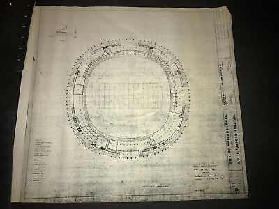 Veterans Stadium Vintage Blueprint - Philadelphia Eagles - Super Bowl