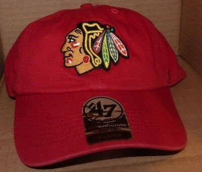 NEW NHL CHICAGO Blackhawks FITTED Men XL 47 Brand Franchise Hat Cap Curved  Brim -  13.88  e23e20f986a0
