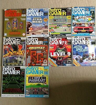 RETRO GAMER magazine lot – 10 complete issues 51 to 60 RARE COLLECTION
