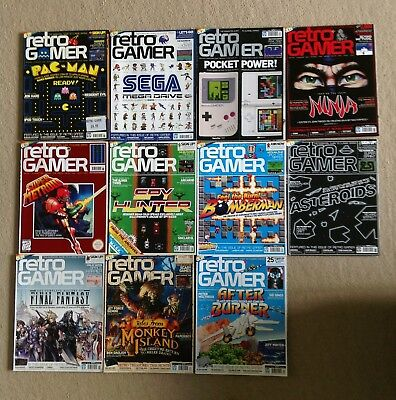 RETRO GAMER magazine lot – 11 complete issues 61 to 71 RARE COLLECTION