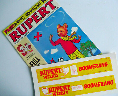 Rare - Third No 3 Issue Of Rupert Weekly Comic With Free Boomerang 03/11/1982