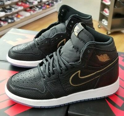 Air Jordan 1 Retro High Og 575441 031  Black/metallic Gold Grade School Sz 6Y