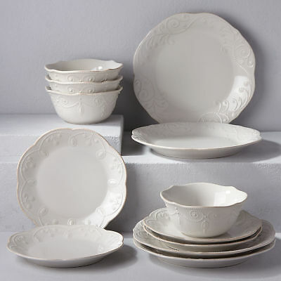 French Perle White 12-piece Dinnerware Set by Lenox