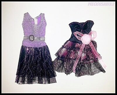 Barbie Doll Clothes - Set of 2 Sparkle Dresses/Party/Evening/Outfit