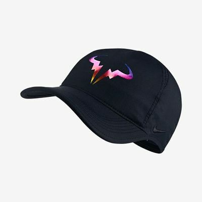 NEW Nike Rafa Nadal Dri-Fit Featherlight Tennis Hat Black Iridescent
