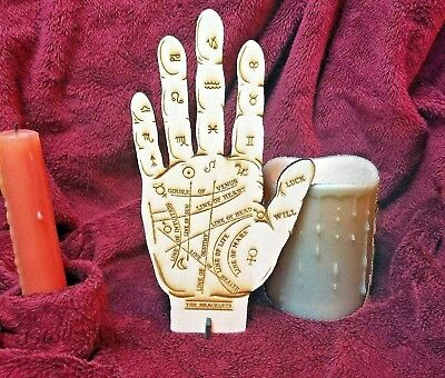 """8"""" Homemade Wooden Palmistry Hand for Palm Reading, Gypsy Fortune Teller Psychic"""