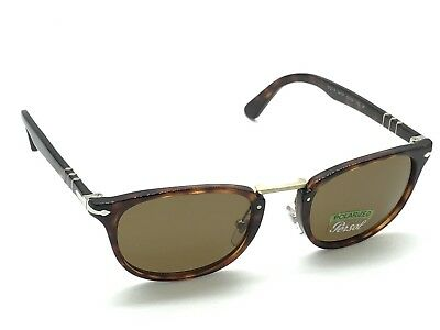 6ed1f60d739b4 Persol 3127-S 24 57 Polarized Tortoise Typewriter Sunglasses 52-22 145 Italy