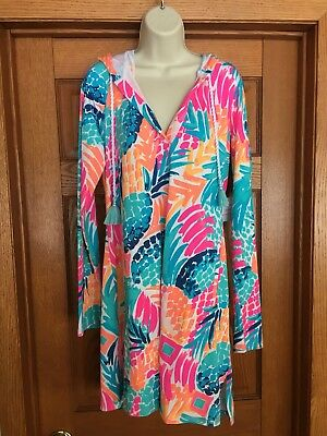 d62358a484 NWT Lilly Pulitzer UPF50+ Rylie Cover-Up Beach Dress Goombay Smashed Sz.  Large
