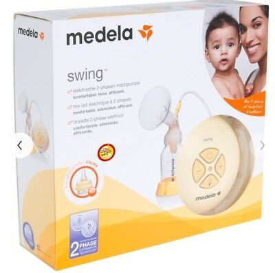 Medela Swing Single Electric Breast Pump ( Brand New in Box ) with Calma teat
