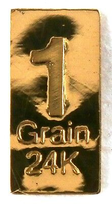 1/15 GRAM =1Gn 24K PURE GOLD .999 FINE BENCHMARK STRATEGIC METALS& CERT L30a