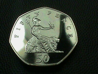 GREAT  BRITAIN   50  Pence  1987  PROOF  ,  $ 2.99  maximum  shipping  in  USA