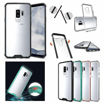Hybrid Soft TPU Shockproof Bumper Clear Case Cover Samsung Galaxy S9 Plus / S9
