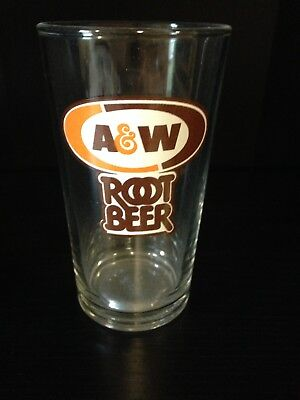 """A&w Root Beer Glass 4 3/4"""" Tall Tapered Style"""