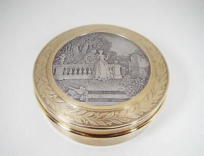 Unique French Engraved Gold Gilded 'Vermeil' Sterling Silver Box by Paul Fort