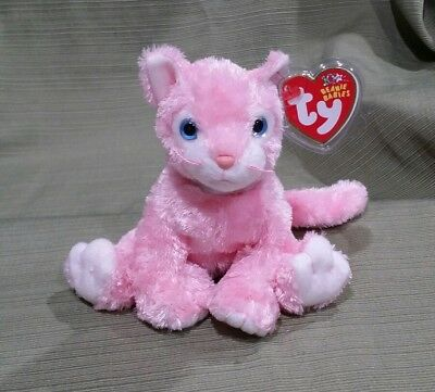 Ty Beanie Baby Carnation the Pink Cat  MWMT 2002 Retired