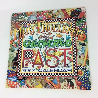 "MARY ENGELBREIT 1997 ""Checkered Past"" Wall Calendar Unused Great Framing Crafts"