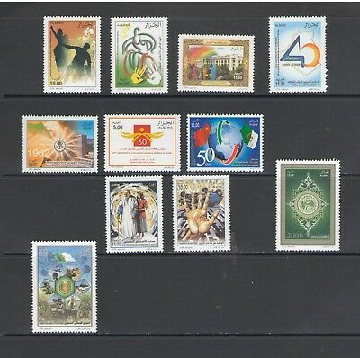 ALGERIA: No.01 / GOOD VALUE LOT OF MODERN ISSUES / Full Sets- All  MNH