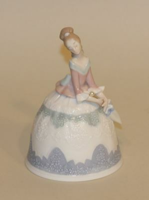 Retired Lladro Spain Porcelain Bell in Box Sounds of Summer 5953