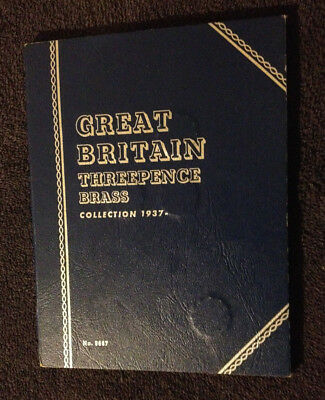 Great Britain Threepence Brass Collection in a Whitman Folder (15 pcs)