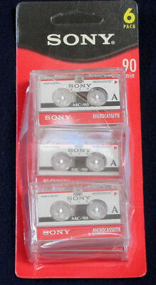 **  Five (X5) SONY MC 90 ** New MicroCassette Tapes * 90 Minutes Each * New *