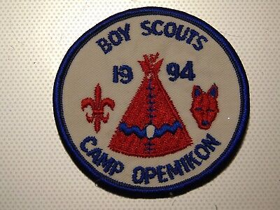 Boy Scouts Canada Camp Opemikon Ontario 1994 Patch Crest