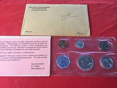 1963-P US Mint Proof Set. Philadelphia Mint 90% Silver Coins with COA.