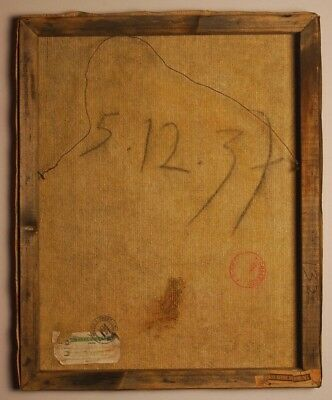 """Pablo Picasso Original Oil Painting on Canvas Signed 1937, PARIS MUSEE, """"132"""""""