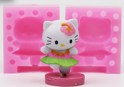 3D Hello Kitty Candle Silicone Baby Mould Chocolate Fondant Soap Clay Cake Mold