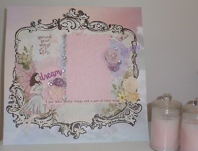 Handmade Scrapbook page - I Just Want pretty things and a pair of Wings